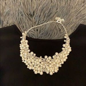 Jewelry - Faux pearl and rhinestone necklace